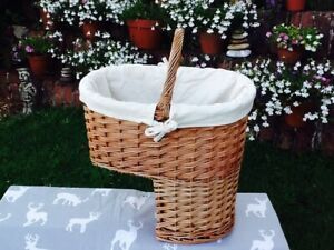 STEAMED WILLOW STAIR BASKET WITH WHITE LINING GORGEOUS