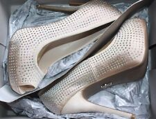 Women's 8 M JENNIFER LOPEZ Blingy Blush Platform Peep Toe Pump High Heel Shoes