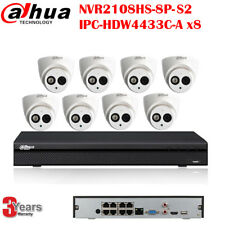 Dahua 8CH 8PoE 4MP PnP Security CCTV Camera System Kit Built-in MIC 4TB HDD