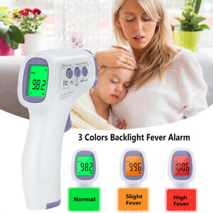 Medical Infrared Thermometer Noncontact Forehead Body Temperature Gun Baby Adult