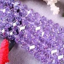 100pcs, Charm violet Perles  en vrac ,6x4mm