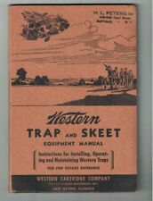 Western Trap & Skeet Equipment Manual 1940s With All Four Plates