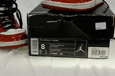 Nike Air Jordan 1 Retro Shoes - White/Black Varsity Red - Size 8 (US)