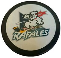 QUEBEC RAFALES VINTAGE IHL INGLASCO  OFFICIAL made in SLOVAKIA HOCKEY PUCK