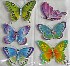 3D-Sticker XXL Aufkleber Schmetterlinge Stickerbogen