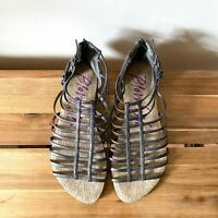 NEW Blowfish Pewter Gladiator Caged Sandals UK 5 Free People Urban Outfitters