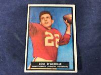 M4-66 FOOTBALL CARD - LOU D'ACHILLE FIGHTIN' HOOSIER - 1951 TOPPS MAGIC CARD #14