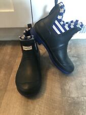 Hunter for Target Navy Blue Waterproof Short Rain Ankle Boots Big Girl's Size 3