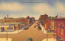 Aberdeen South Dakota Main Street Scene Linen Antique Postcard K24381