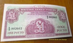 EBS British Armed Forces - 1 Pound 1962 4th Series Banknote - UNC Pick M36