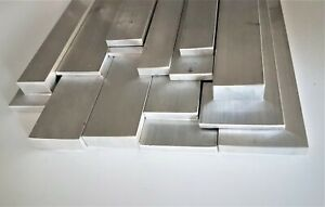 Aluminium Flat Bar metal Plate, Metric sizes, 50mm to 1000mm (1 Metre) Long
