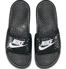 Nike Benassi JDI Women US 7 Black Slides Sandal Pre Owned 3964