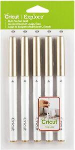 Cricut Multi Pen Set 5pc - Gold - 2002947 - Glitter Gel & Calligraphy