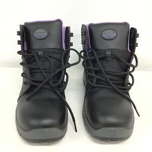 Jackeroo Kimba Size 10 Black Leather Lace Up Boots #452