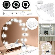 1/4X Hollywood Trucco Specchio Luci 10 LED Kit Lampadine Toletta Luce Lampadina