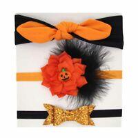 3Pcs Baby Girl Infant Halloween Headband Elastic Hair Tie Rope Headwear Acces