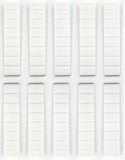 100 Möbelkeile weiß 100x20 mm Unterlegkeile Justierkeile Möbelkeil Montagekeil