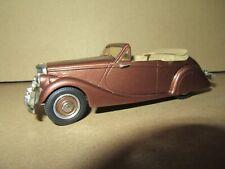 90Q Western Models WMS Kit Jaguar MK V Cabriolet Ouvert 1949 Marron Métal 1:43