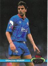Una tarjeta de Topps en Oldham Athletic. Graeme Sharp personalmente firmados por él.