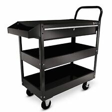 New Excel TC301C-Black 36 Inch Steel Rolling Tool Cart 1 drawer w Work Surface