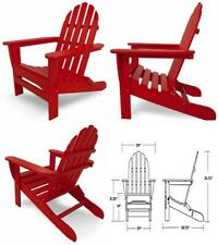 "POLYWOOD AD5030SR Classic Folding Adirondack Chair, 38.5""H Sunset Red"