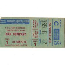 BAD COMPANY & CLIMAX BLUES Concert Ticket Stub NEW YORK NY 7/31/77 BURNIN' SKY