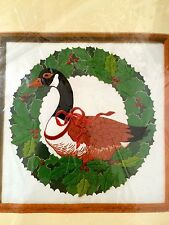 "Creative Circle Crewel Embroidery Kit  CANADA GOOSE 13"" x 13"" Needlework Vintage"