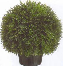 "1 Artificial 20"" Cedar Ball Topiary Tree Outdoor Bush Cypress Plant Pool 2 Patio"