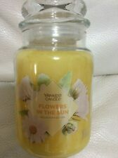Yankee Candle Flowers in the Sun Large Jar 22oz NEW Bright Yellow Collector's