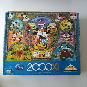 Disney Minnie And Mickey Mouse 2000 Piece Jigsaw Puzzle Complete 2000xl Mega