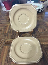 MIKASA California Casuals FH 000 Pair of Sandy Stone Saucer Plates Made Japan