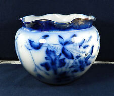 "ANTIQUE, THOMAS FORESTER (TF&SONS) FLOW BLUE, PHOENIX  CHINA ""JARDINIERE"""