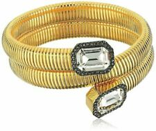 Vince Camuto Gold-tone Stone Coil Bracelet - Gold