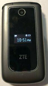 ZTE Z320 Black (Unlocked) Gray Cell Phone Fast Shipping Mint Used 4G Flip Basic