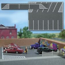 Busch Ho Scale Flexible Parking Lot (Road/Asphalt Mat) for Model Trains 7076