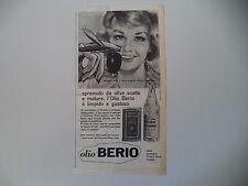 advertising Pubblicità 1962 OLIO BERIO