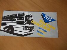 Green Line 765 bus timetable leaflet