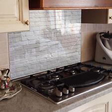 Magnétique Verre Splashback Cuisine Tableau Blanc Quick Fit Brick Dark Wall 0419