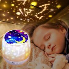 Nachtlicht LED Sternenhimmel Projektor Nacht Lampe Kinder Einschlafhilfe+5Filmes