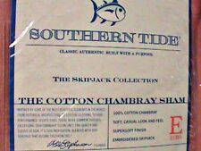 SOUTHERN TIDE THE COTTON CHAMBRAY EURO & VINTAGE RED LOT OF 2 BRAND NEW