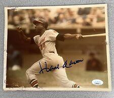 Hank Aaron Signed Photo 8x10 Autograph ATL Braves Baseball HOF Gold Glove JSA 1