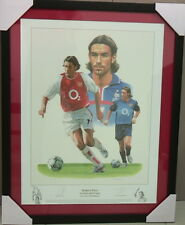 ROBERT PIRES ARSENAL AND FRANCE SIGNED FRAMED PRINT