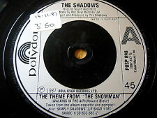 "THE SHADOWS - THE THEME FROM 'THE SNOWMAN'  7"" VINYL"