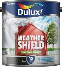 Dulux Weather Shield Exterior Walls Smooth Masonry 2.5 L Paint - Black..