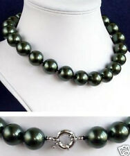 "12mm South Sea Black Shell Pearl Necklace 18"" AAA+"