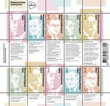 Nederland 2013 Nederlandse schrijvers V3059-3063  vel  postfris