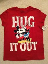 "Disney Mickey/Minne Mouse T-Shirt Size 7/8 ""Hug It Out"" EUC!"