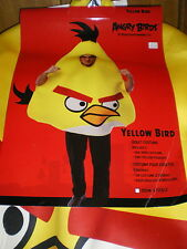 Adult ANGRY Birds YELLOW BIRD COSTUME New 3pc Suit & 2 Pillow Pouches ROVIO