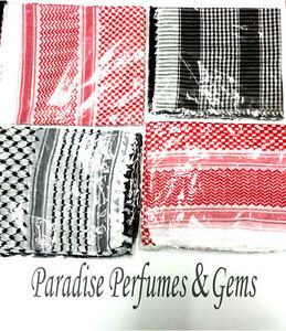 New Authentic Arab Palestine Afghan Desert Style Mens Scarf Shemagh Yashmagh