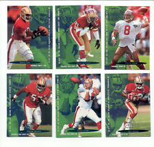 1995 Fleer San Francisco 49ers Set JERRY RICE STEVE YOUNG DEION SANDERS J TAYLOR